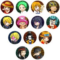 Buttons :: One Piece by khiro