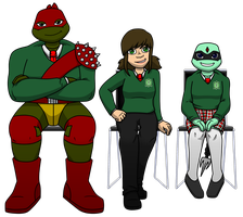 TMNT-U Class Photo 2015 - Mash, Kitkat, Macy by TMNT-Raph-fan