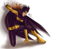 Batgirl quickie by Beverii