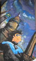 Nightwing - In the shadows by halogenlampe