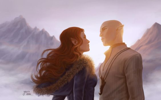 Solas And Lavellan by slugette