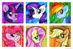 Mane Six by flamevulture17