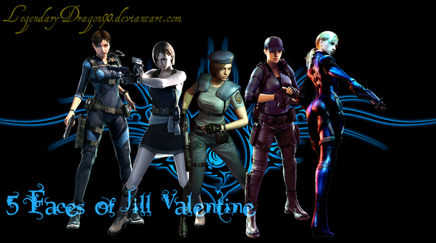 5 Faces of Jill Valentine by LegendaryDragon90