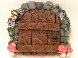 Dawn's 1st Fairy Door by FlyingFrogCreations