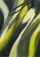 Abstract Yellow Flow by Rae134