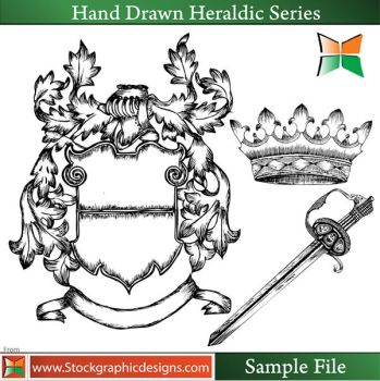 Hand Drawn Heraldic Vector by Stockgraphicdesigns