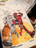Deadpool/Stormtrooper tattoo (2 of 2) WIP by animaddict