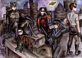 bat family by NarciSSai
