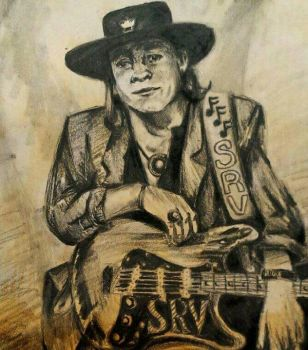 Stevie Ray Vaughn  by haunted72194