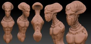 Zbrush Alien by jdchavez