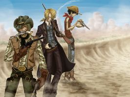 Cowboy Trio by SybLaTortue
