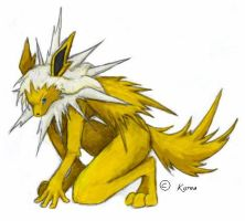 Evil Jolteon.. by RakuraiWolf