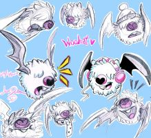 Woobat Sketches by Lea007