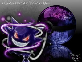 Come from the shadows, Gengar! by KirbyBelle