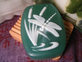Dragonfly, aloe vera soap by thepomseed