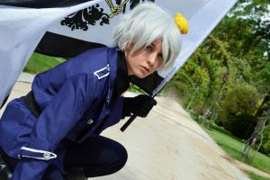 Arrogant boy- Prussia cosplay by Voldiesama