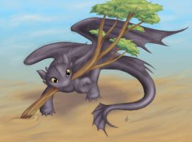 Toothless Draws by SharmClucas