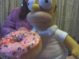 Homer Simpson ate my donut. D: by IncrediVi