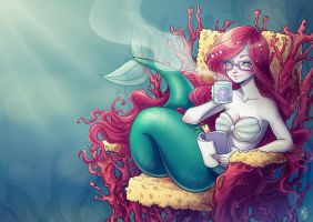 Mermaid - commission by eserioart