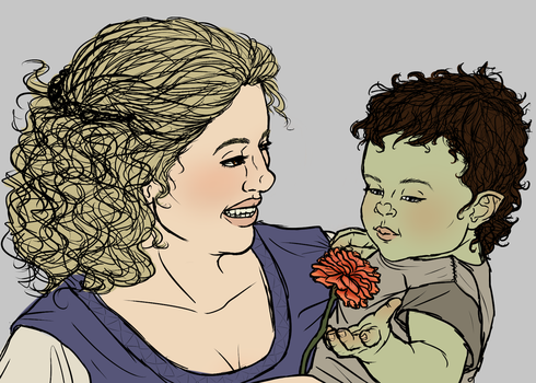 Betty and Baby Ten-Penny WIP by TaylorBrooke123