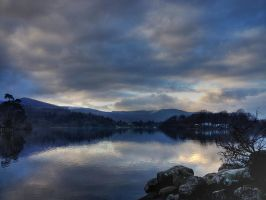 Dusk at Derwentwater by roodpa