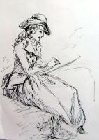 Sketch of Lady Sketching by rum-inspector