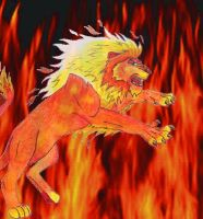 Elemental Beasts: Fire Lion by Link-Inc
