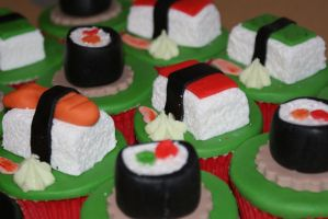 Sushi cupcakes 3 by PiggySpig22