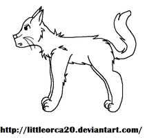 Cat lineart (Free!) by LittleOrca20
