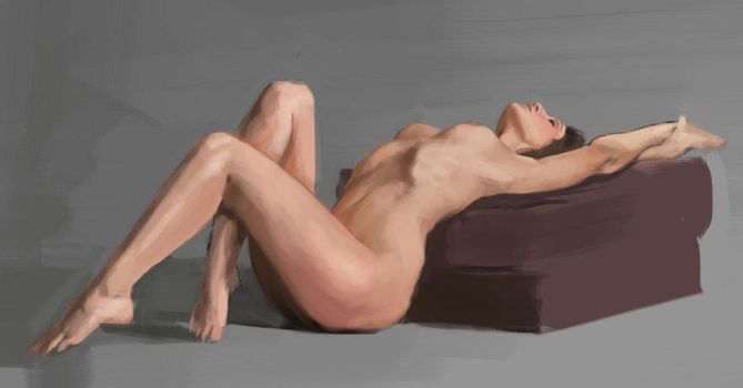 Color Nude Study by Flohock