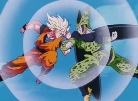 Goku Vs Cell by DBHeroes