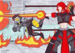 Battle of the Agents by Branded-Curse