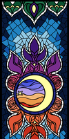 Gerudo Themed Stained Glass by MuseWhimsy