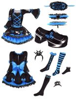 Blue Gothic Lolita dress by hinode