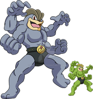 068 - Machamp - Art v.2 by Tails19950