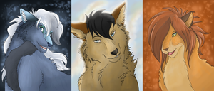 Headshot Commission Examples by Hortensie-Stone