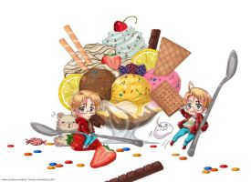 Hetalia and Sundae by CarmenMCS