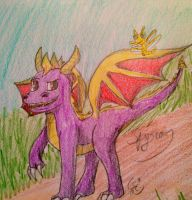 Spyro the Dragon by SilverMistSE