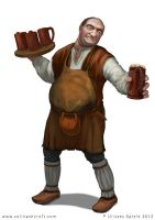 Innkeeper RPG character design by Colin-Ashcroft
