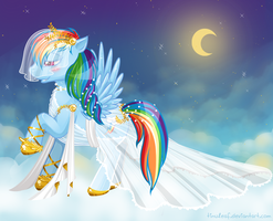 Rainbow Dash Wedding dress by tinuleaf