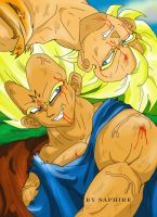 Goku and Vegeta by Saphire by dragonballdeviants