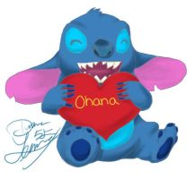 Stitch Loves Ohana by chiyokins
