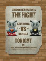 SuperFella VS BatFella by lemondesign