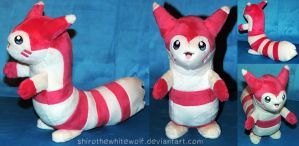 [PLUSH] Shiny Furret SOLD by ShiroTheWhiteWolf