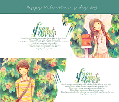 [ COUPLE COVERS FACE ] Happy valentine s day 2015 by voicon9991999