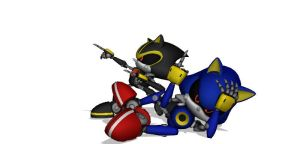 Metal Sonic V2 and Metal Sonic 3.0 by MakutaKorzak
