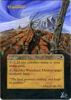 MTG Altered Art: Wasteland - Spring by LXu777