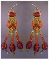 Earrings Desert Fire by Peter-The-Knotter