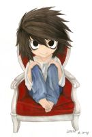 Chibi L from death note by Liedeke
