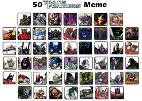 My 50 Favorite Transformers characters by JefimusPrime